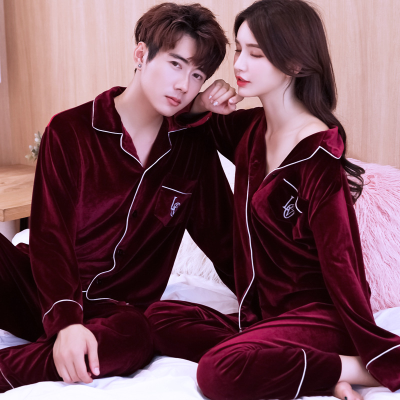 New Velvet Ladies Warm 2PCS Home Clothes Intimate Lingerie Shirt&Pant Soft Pyjamas Pajamas Suit Female Sleepwear Plus Size 3XL