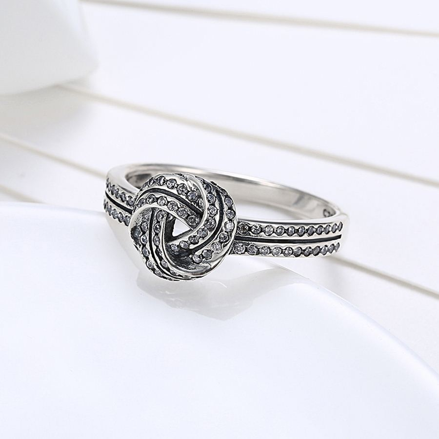 fashion product infinity sterling knot love silver rings size endless engagement