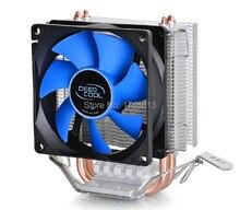 2 тепловых трубок, для Intel LGA775 / 1155 / 1156 / 1150, для AMD FM1 / FM2 / AM3 + / AM2 +, процессора радиатор процессора вентилятор, DeepCool ice мини окончательный