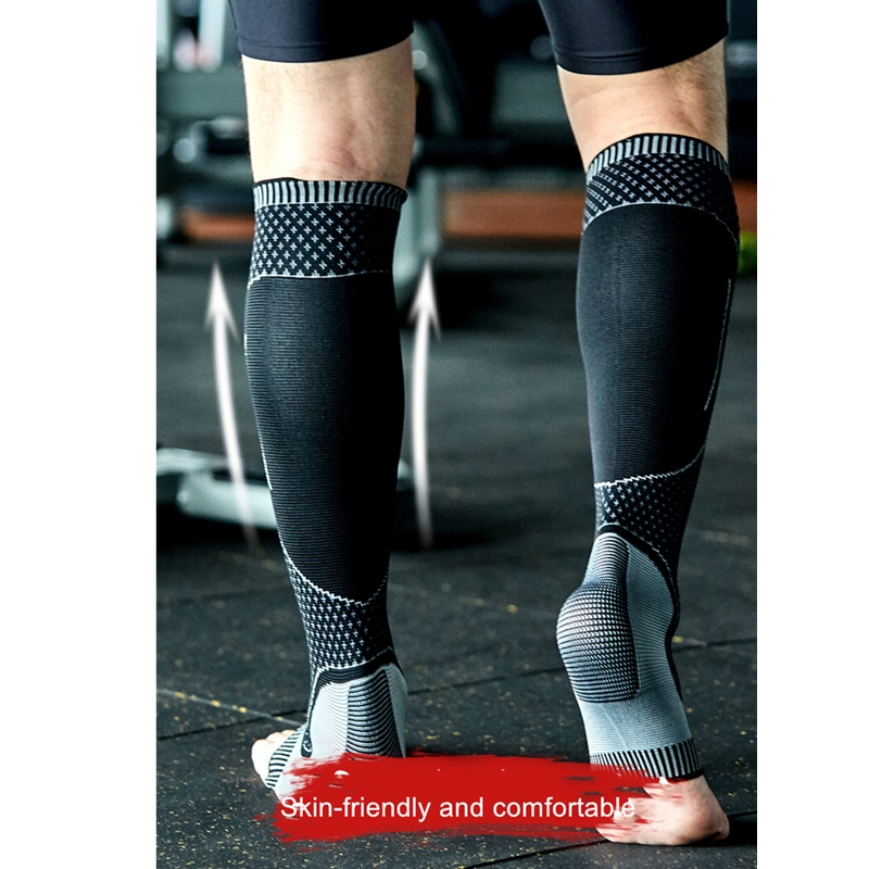 1 Pair Sports Compression Socks Orthopedic Support Knee High Stockings Calf and Ankle Protector for Running Football Skiing