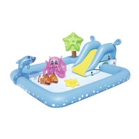 240cm Inflatable Fantastic Aquarium Swimming Play Pool For Kids Summer Water Swim Game Garden Outdoor Ground Fun Raft