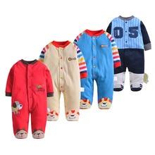 Купить с кэшбэком Baby Clothes Baby Boy Girls Footed Romper Baby Rompers 100% Cotton Sleep & Play Clothes Baby Pajamas Newborn Clothing