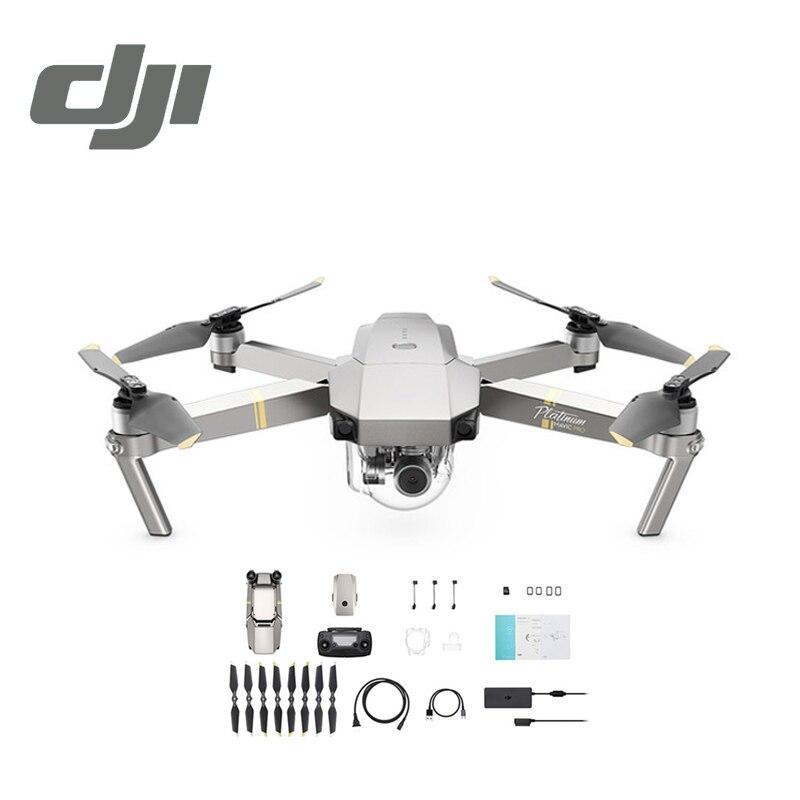 Câmera Zangão DJI Mavic Pro Platinum 30 Minutos de Tempo de Vôo 1080 P com 4 K de Vídeo RC Helicóptero FPV Quadcopter DJI Originais