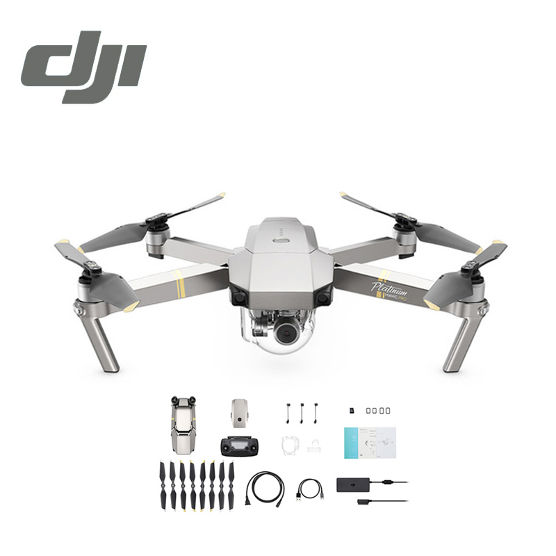 DJI Mavic Pro Platinum Camera Drone 30 Minutes Flight Time 1080P with 4K Video RC Helicopter FPV Quadcopter DJI Original dji mavic pro rc helicopter drone gimbal stabilized 4k camera selfie fpv gps quadcopter vs zero dobby dji phantom 4