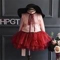 Fast Высокое Качество Детская Одежда 2016 Корейский стиль Моды Лук Принцесса Блузки Рубашки Детская Одежда Осень и весна