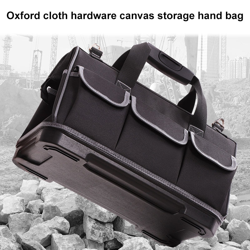 Electrician Tools Hardware Storage Bag Oxford Cloth Wide Mouth Work Bag With Handles JDH99