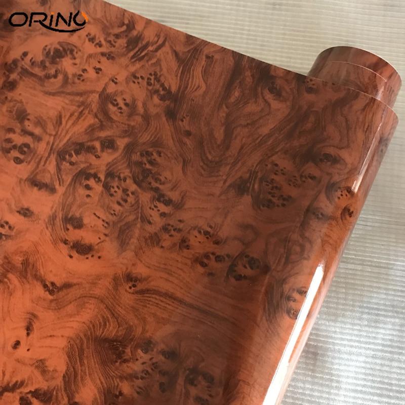 Car DIY interior wood grain textured vinyl wrap sticker decal sheet film styling