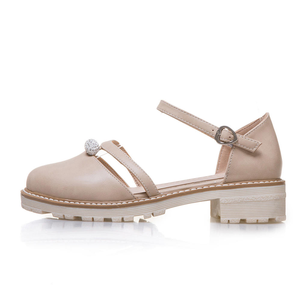 Verano Tamaño 43 La Escuela Sarairis 2019 Gran Las Apricot Sólida Plataforma Dulce Cordón 33 De negro Chica Sandalias blanco Mujer Zapatos Mujeres qAvAO5x7