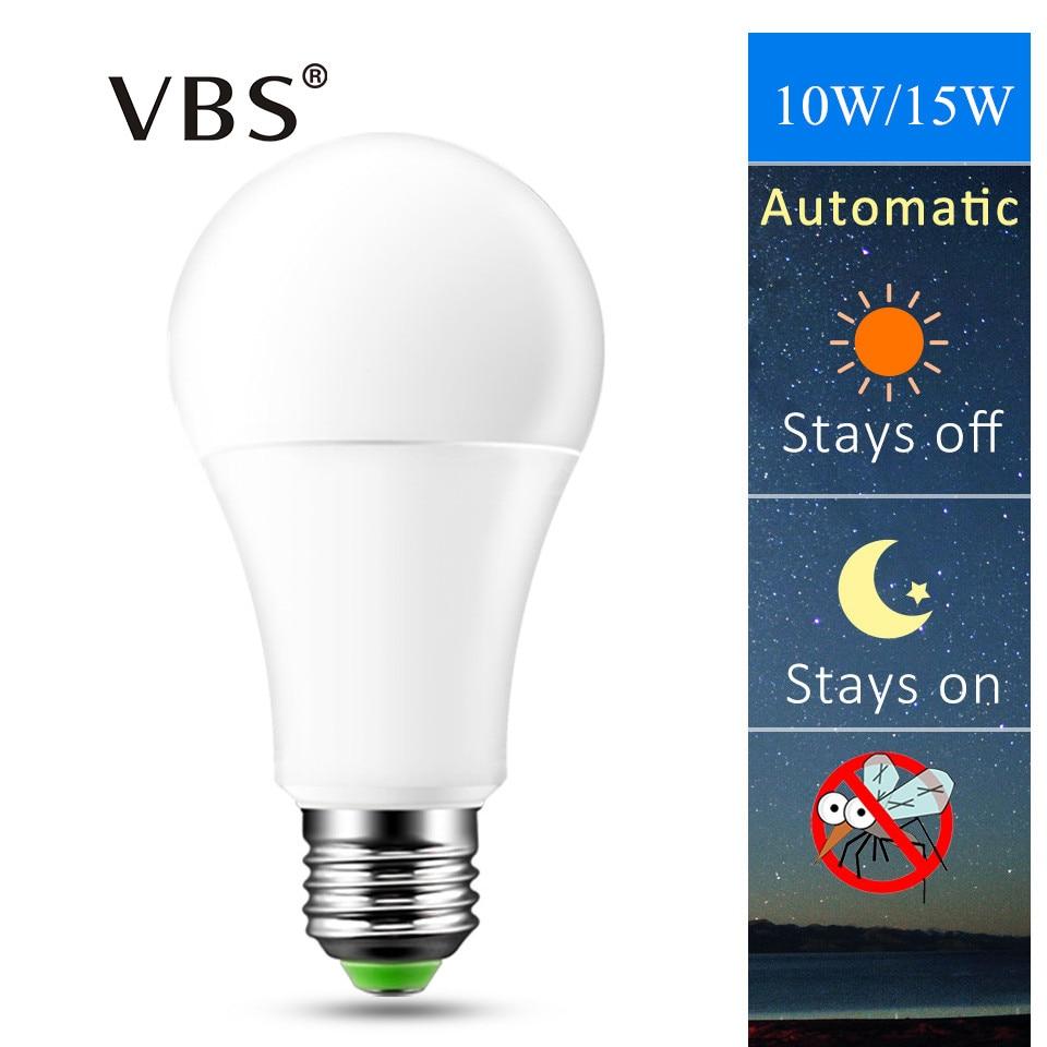 A60 Led Bulbs E27 220V 110V High Quality Dusk To Dawn Light Bulb 10W 15W Automatic Light Sensor Night Lamp Led Bulbs For House