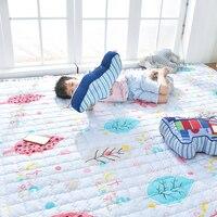 Kingart Cotton Cartoon Big Living Room Newborn Carpet Children Floor Mat Kid Room Thick Blanket Baby