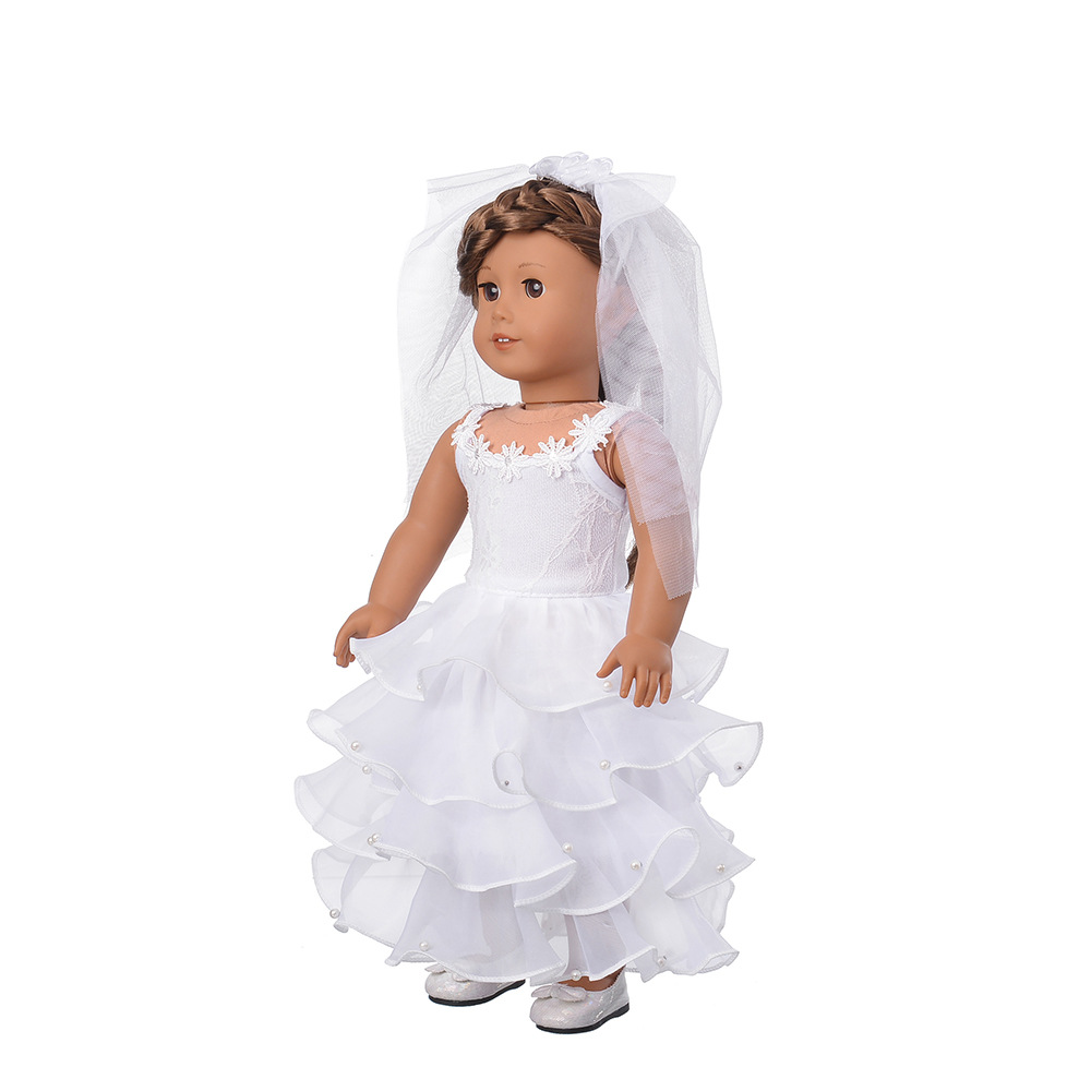 American Girl Doll Clothes Cute Red Princess Party Dress Doll ...