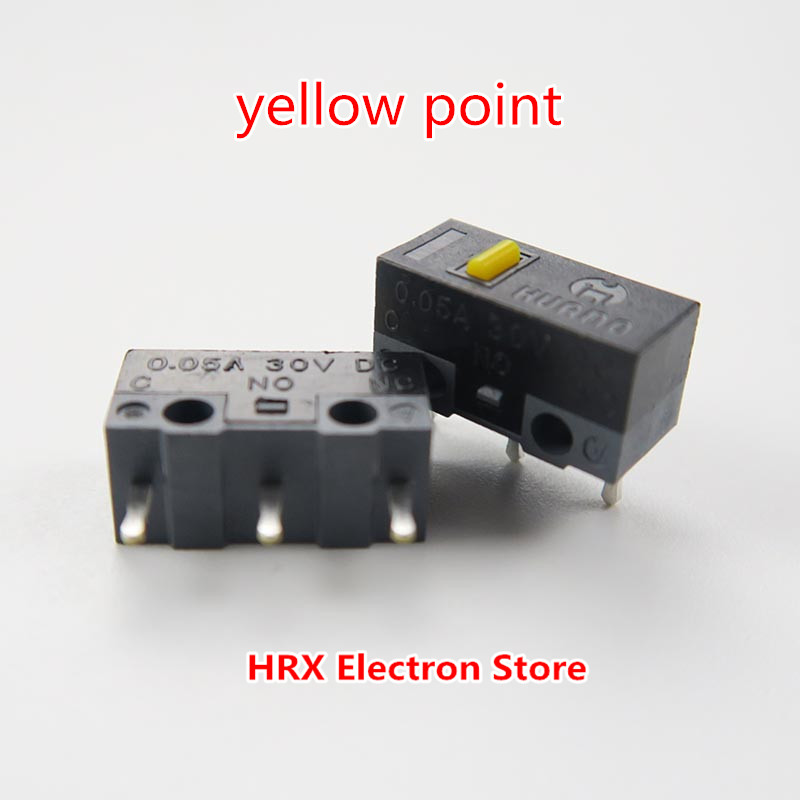Image 5 - 100PCS / LOT HUANO Mouse Micro Switch Button Silver Contact (Blue Shell / Blue / Pink / Yellow / Green / White) 6 Colors-in Switches from Lights & Lighting