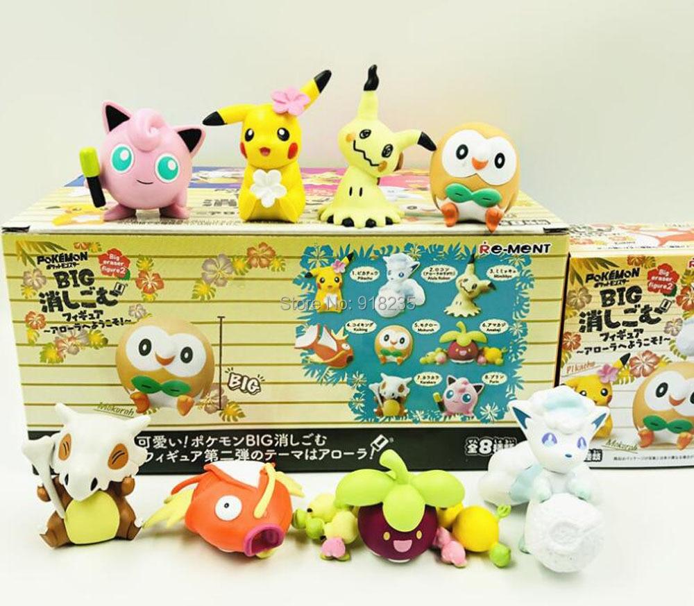 3 Sets/8 stuks Pikachu Rowlet Vulpix Mimikyu Cubone Clefairy Magikarp Bounsweet 5 CM PVC Action Figures Speelgoed-in Actie- & Speelgoedfiguren van Speelgoed & Hobbies op  Groep 1