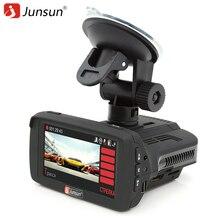 Junsun Видеорегистраторы для автомобилей Камера регистратор радар-детектор GPS для российских Ambarella Анти радар SpeedCam FHD 1080 P видео Регистраторы регистраторы
