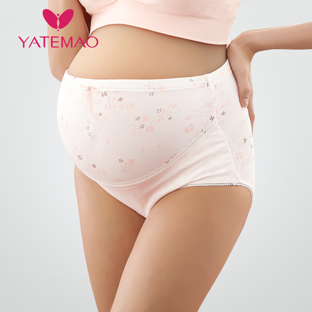 c2397d65e39 YATEMAO New Pregnancy Underwear Pants Maternity Panties High Waist Woman  Underwear Cotton