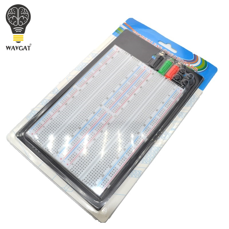 WAVGAT SYB-1660 Solderless Breadboard Protoboard 4 Bus Test Circuit Board Tie-point 1660 ZY-204WAVGAT SYB-1660 Solderless Breadboard Protoboard 4 Bus Test Circuit Board Tie-point 1660 ZY-204