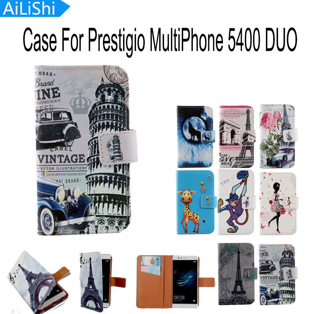 AiLiShi Accessoire Flip Poche de Couverture de Peau Avec Fente Pour Carte  Haute qualité PU Étui En Cuir Cas de Téléphone Pour Prestigio MultiPhone  5400 DUO 532e87fd083