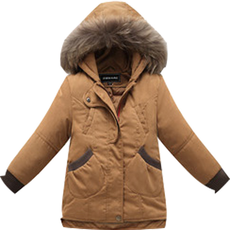 2017 New Winter Girls Down Coat Kids Warm Parkas Coats Children ...