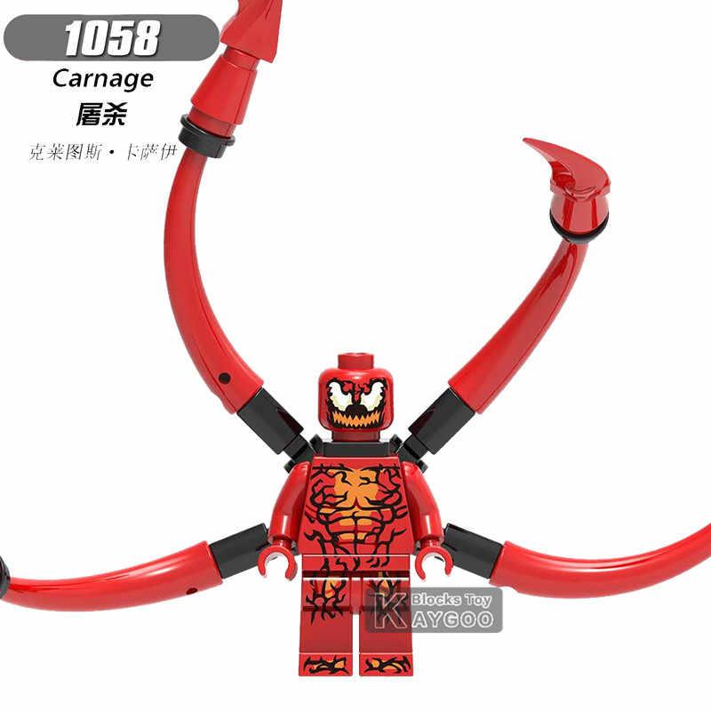 Único Legoings Maravilha Carnificina Abutre Bombástico Do Homem Aranha Homem da Mala Médico Polvo Super Heróis Blocos de Construção Brinquedos Infantis Presentes