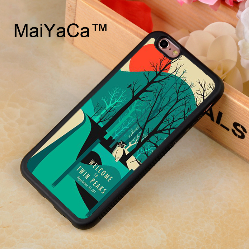 MaiYaCa Twin Peaks TPU Case for iphone 7 Patterned Soft Rubber Phone Case For iPhone 7 Bags Fundas Cover