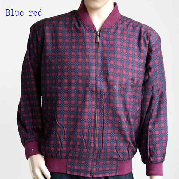 Lourde Plaid Veste Hommes Lourd Pure Pur Décontractée dark blue Clothing Soie Mâle Red Beige Veste 100 Blue Homme Naturel claret 6xfqY8Y