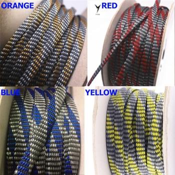10m 3 ~ 20mm XSSH Audio HIFI Shield Suspension Screen Woven Rayon Nylon Cotton Snakeskin Mesh Knit Braided Cable Sleeve Tube