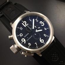 2016 Новый 50 мм Parnis Русский военный Хронограф Япония Кварцевые Наручные Часы Мужчины