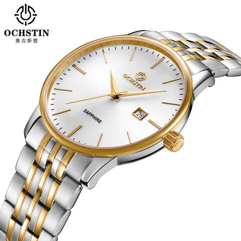 Exibição do Calendário de Quartzo das Senhoras dos Homens Marca de Luxo Banda de Aço de Pulso Ochstin Relógios Mulheres Relógio Masculino 2020 Top Mod. 128999