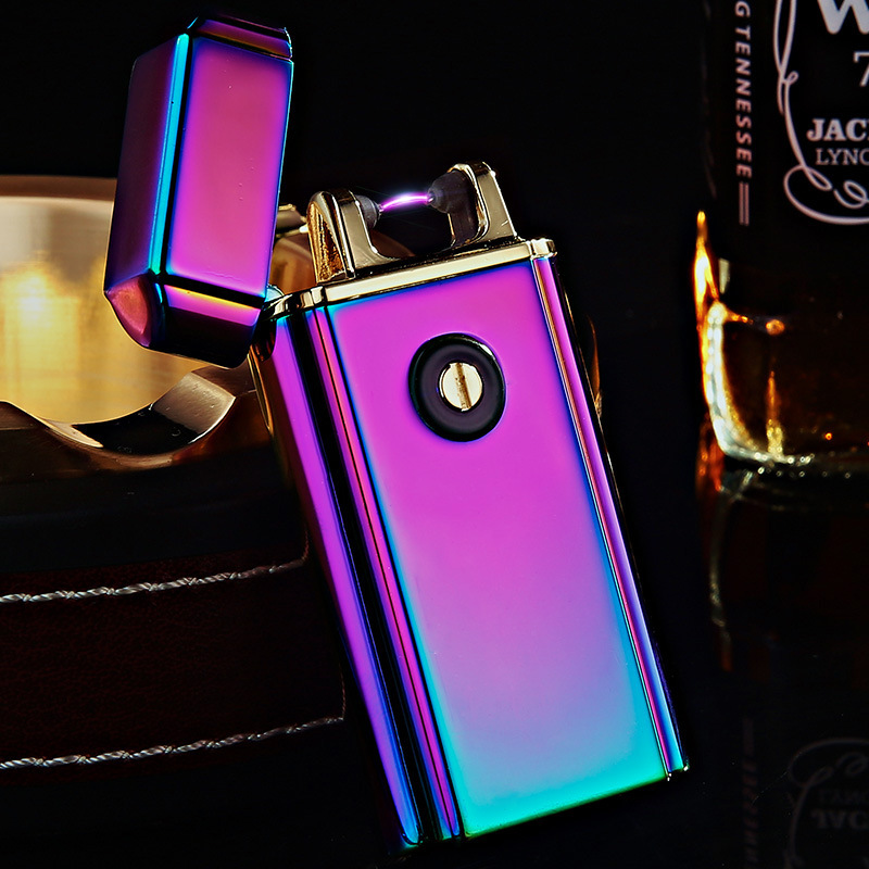 2pcs lot 2017 new arrive USB arc lighter isqueiro for men LIGHTER smoke cigarette tool windproof
