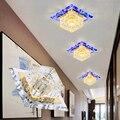 LAIMAIK Cristal LED Luz de Teto 3 W 5 W AC90-260V Modern LED Luz de Teto Do Corredor Corredor LEVOU Luz de Teto de Cristal DIODO EMISSOR de Luz