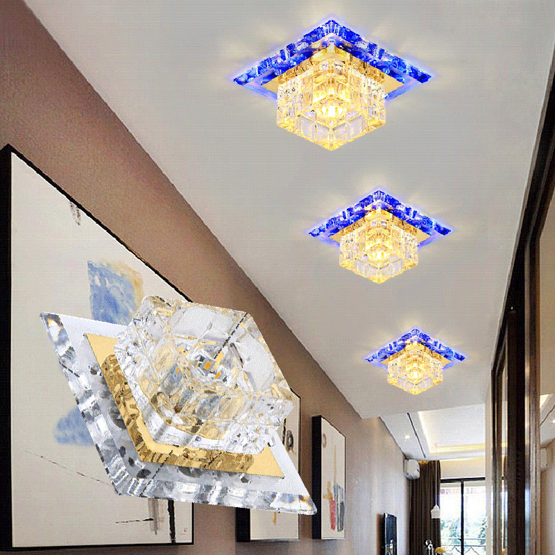 LAIMAIK Crystal LED Ceiling Light 3W 5W Modern LED Ceiling Light AC90-260V Aisle Corridor LED Light Crystal Ceiling LED Light