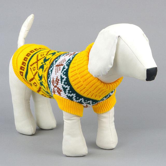 Large Hot Pet Dogs Snowflower Warm Sweater Clothes Puppy Cat Coat Jumper Knitwear