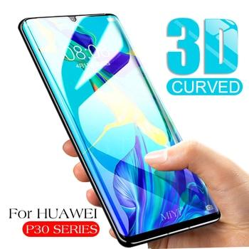 3D zakrzywione szkło ochronne na Huawei P30 Pro ochraniacz ekranu szkło hartowane Hauwei P 30 Lite światło P30Pro Tremp Glas