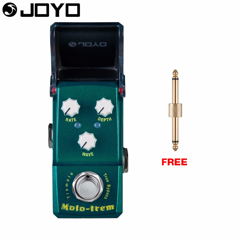 Joyo Molo-Trem Tremolo Guitar Effect Pedal Wave Control Rate Control True Bypass Depth Control JF-325 with Free Connector mooer ensemble queen bass chorus effect pedal mini guitar effects true bypass with free connector and footswitch topper