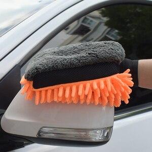Image 2 - 1 adet mikrofiber araba yıkama eldivenleri araba temizleme aracı tekerlek fırçası çok fonksiyonlu temizlik fırçası detaylandırma