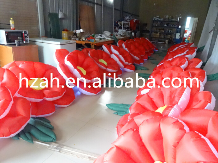 Big Inflatable Flower with RGB LED Light /Long Inflatable Flower big wedding inflatable flower nice inflatable artifical flower