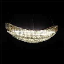 Light luxury crystal chandelier designer sailing hotel restaurant decorative lights for living room