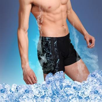 3bbec704fe5f Traje de baño talla grande para hombre 4XL 5XL 6XL 2019 bañador de nailon  poliéster Sexy para hombre bañador largo para Surf pantalones de los  hombres ...