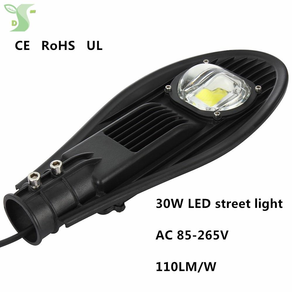 30 W lampadaire LED route autoroute jardin parc lampadaire 85-265 V IP65 noir/gris chaud blanc froid blanc 4000 K éclairage extérieur