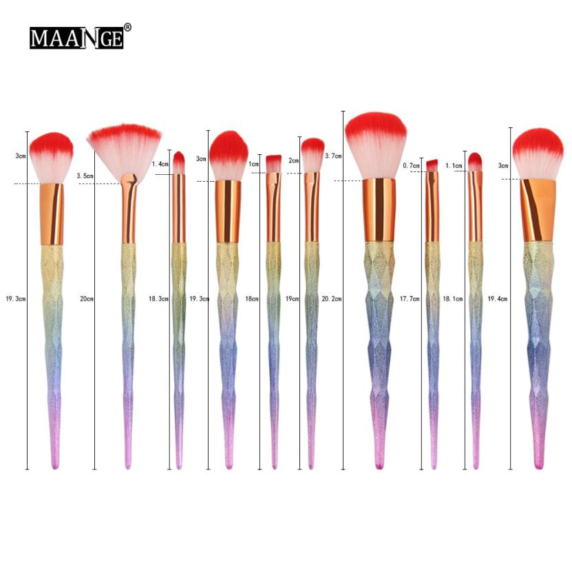 Beauty Girl 2017 10 pcs Makeup Brush Set tools Make-up Toiletry Kit Wool  Applicator Make Up Tool Unicorn  Dropshopping тушь make up factory make up factory ma120lwhdr04