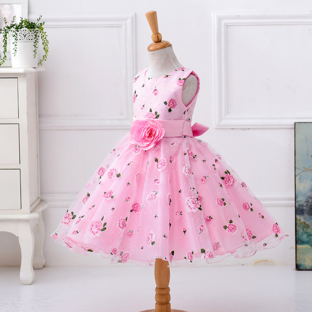 Online Shop Retail Little Flower Girl Dresses With Rose Tulle ...