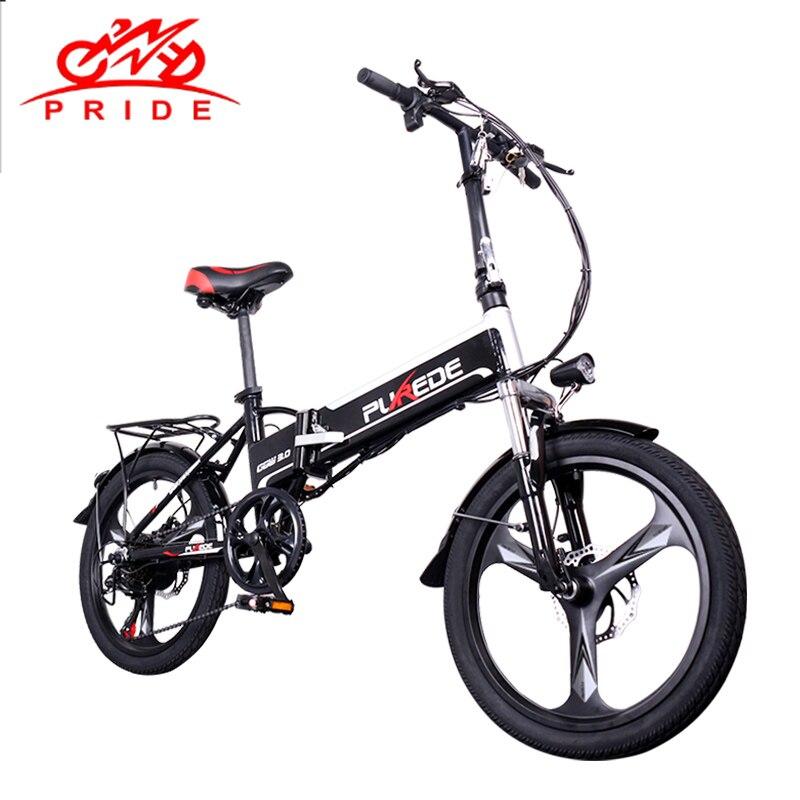Vélo électrique 20 pouces en aluminium pliant vélo électrique 350W 48V12. 5A batterie électrique puissant montagne e vélo vélo vélo de neige