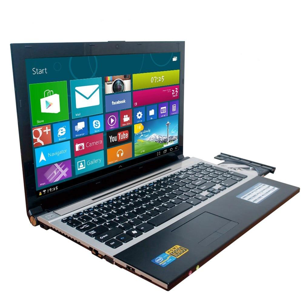 8 GO de RAM + 1000 GO HDD 15.6 pouces Intel Pentium N3520 Quad Core Pour Ordinateur Portable Windows 10 Portable DVD-RW Pour home Office