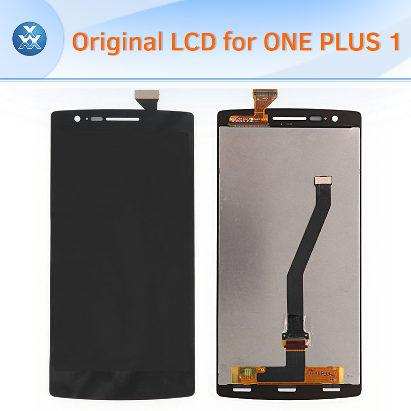 ФОТО For Oneplus one plus 1 original lcd display with touch screen digitizer assembly complete pantalla replacement