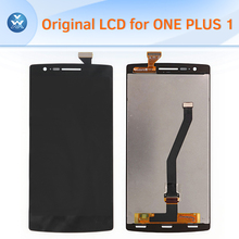 For Oneplus one plus 1 original lcd display with touch screen digitizer assembly complete pantalla replacement