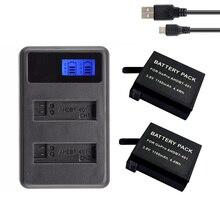 2 sztuk dla GoPro Hero 4 bateria + LCD podwójna ładowarka do kamery Gopro 4 baterie Go Pro Hero4 bateria AHDBT 401 akcesoria do kamer akcji