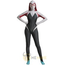 Marvel Superhero Spider-Verso da Mulher-Aranha Gwen Stacy Halloween Carnaval Cosplay Traje Zentai Terno(China)