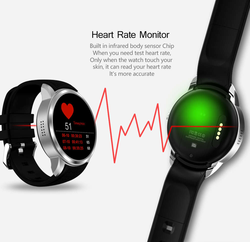 Smartch Top 1 X200 Smart Watch Android 5.1 OS 1.39 inch IPS OLED Screen 1GB+16GB Support SIM Card GPS WiFi Smartwatch for Androi
