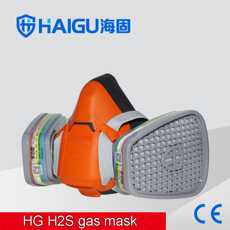 602 H2S respirator gas mask Efficient Silica gel protective mask against Ammonia Hydrogen sulfide chemical gas mask high quality respirator gas mask provide silica gel gray protective mask paint pesticides industrial safety mask