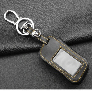 Image 5 - jingyuqin New A93 Leather Case For Starline A93 A63 Car alarm Remote Controller LCD Keychain Cover